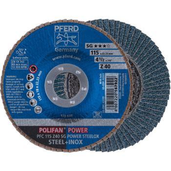 POLIFAN®-Fächerscheibe PFC 115 Z 40 SG-POWER/22,23