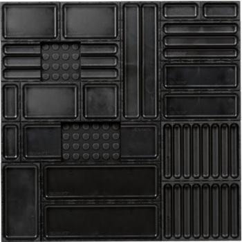 Ordnungssystem 21-teilig Abm. Matte BxT 576x576mm