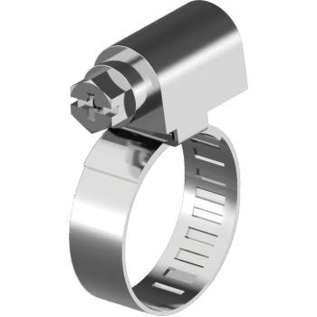 Schlauchschellen - W4 DIN 3017 - Edelstahl A2 Band 9 mm - 70- 90 mm