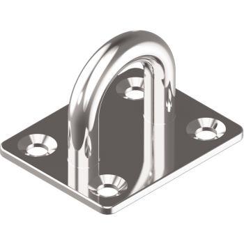 Augplatte, gestanzt u. geschweißt - Edelstahl A2 Typ C 50x 40 mm