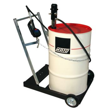 pneuMATO 3 fahrbar für 200 l Ölfässer mit 4 m Schl