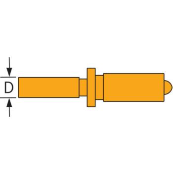 SUBITO fester Messbolzen Stahl für 35 - 60 mm, 54
