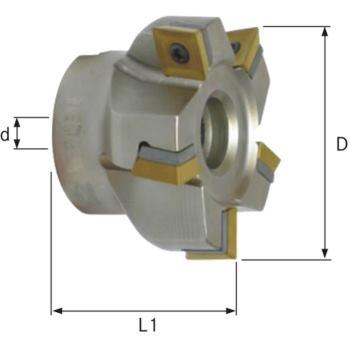 Eckmesserkopf 90 Grad D=125 für Wendeschneidplatt