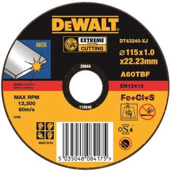 EXTREME Edelstahl-Trennscheibe - flach DT43240