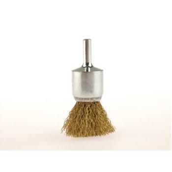 Pinselbürsten mit 6 mm Schaft Drm 12 mm lang 60 mm Messingdraht MES gew. 0,30 mm hoch 20 mm