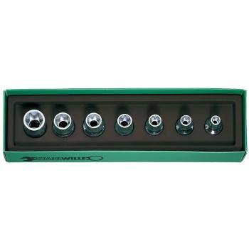 Steckschlüssel 1/2 Inch 7-teilig E 10 - E 40 Auße