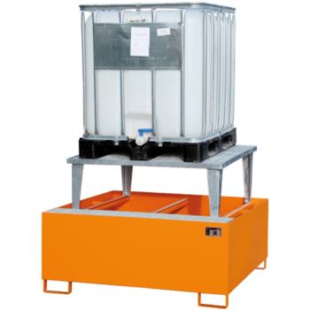 Stahl-Auffangwanne + Aufsatz (für 2 IBC) LxBxH 265