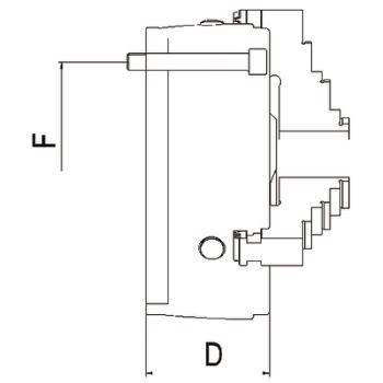 DURO-T 160, 3-Backen, Zylindrische Zentrieraufnahme, einteilige Umkehrbacken