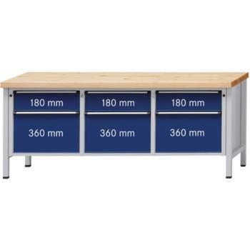 Werkbank Modell 223 V Platte Buche-Massiv 200