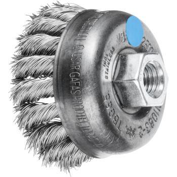 Topfbürste mit Gewinde, gezopft TBG 65/M14 INOX 0,35