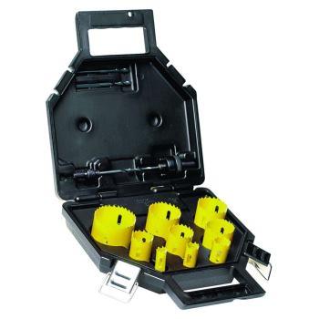 13-tlg. Klempner BI-Metall Lochsägen-Se DT8106 offer (2x Adapter, 2x Zentrierbohrer, 7 Lochsägen