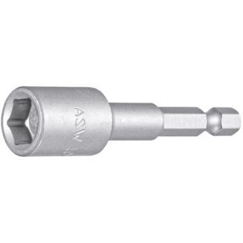 """1/4"""" Bitaufnahme Steckschlüsseleinsatz Ø 10 mm mit Dauermagnet"""