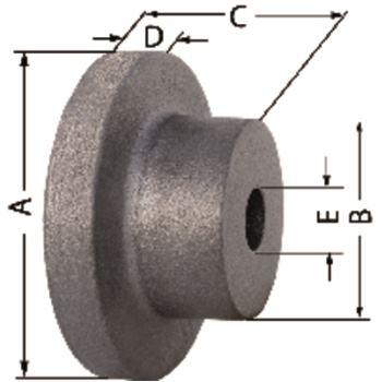 Rohflansche für zylindrische Aufnahmen, Größe 250, 10 Zoll