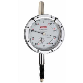 Messuhr 0,01mm / 10mm / 58mm / Stoßschutz / ISO 463 - DIN 878 wasserdicht 10127