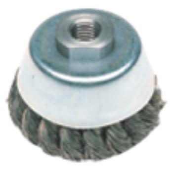 Topfbürste 100 mm M 14, Stahldraht, gezopft, Draht
