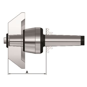 Mitlaufender Zentrierkegel, Aufnahme MK 6, Größe 114, auswechselbar, 75°
