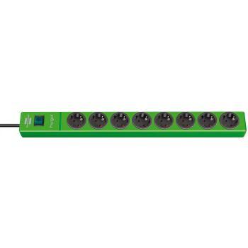 hugo! Steckdosenleiste 8-fach grün 2m H05VV-F3G1,5