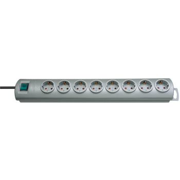 Primera-Line Steckdosenleiste 8-fach silber 2m H05