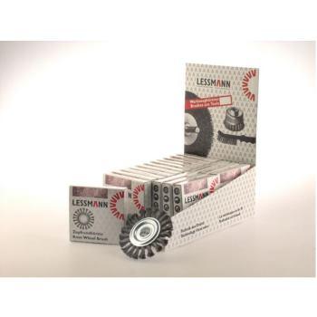Displaykarton Inhalt : 18 Stück Zopf-Rundbürsten Drm 115 x 14 mm 20 Z Stahldraht STH glatt 0,50 m