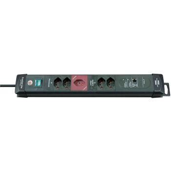 Premium-Web-Line Steckdosenleisten 5-fach schwarz/