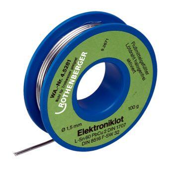 Elektroniklot, 1,5mm, 100g, Spule