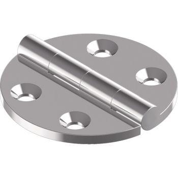 Scharnier, Feinguss poliert D= 64 mm, A4
