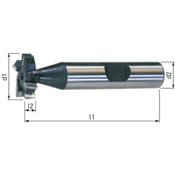 Schlitzfräser HSSE5 DIN 850 kreuzgez. 5x7,5 (19,5
