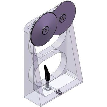 Abrollböcke Typ ARLB 100 f.max. Werkstück-Durchm.6