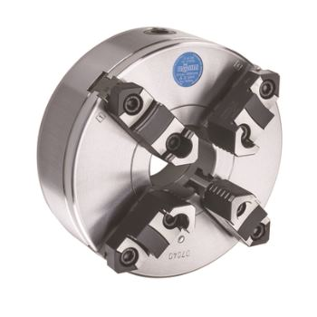 ZSU 125, 4-Backen, DIN 6350, Grund- und Aufsatzbacken, Form A, Stahlkörper