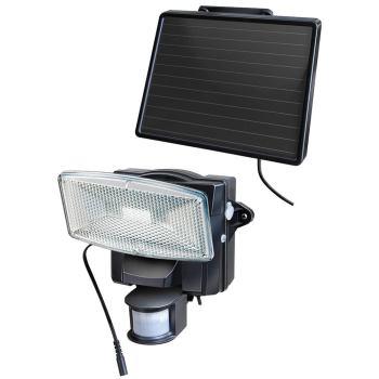 Solar LED-Strahler SOL 80 plus IP44 mit Infrarot-Bewegungsmelder 8xLED, Kabellänge 4,75m, Schwarz