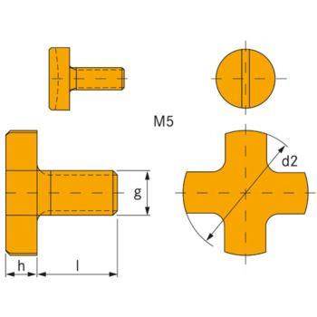 Fräseranzugsschrauben DIN 6367 M 6/13 mm Dorndurch