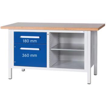 Werkbank Serie Länge 1500 Platte Buche Multiple