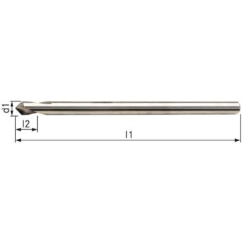 NC-Anbohrer HSSE 90 Grad 4x100 mm mit Überlänge und Zylinderschaft HA