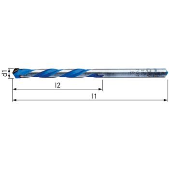 Hartmetall Mehrzweckbohrer Durchmesser 4,0 x 75 mm
