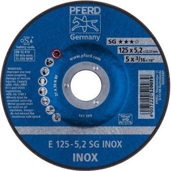 Schruppscheibe E 125-5 A 30 N SG-INOX/22,23