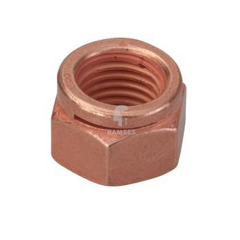 Auspuff-Schlitzmutter 14441 M10 Stahl verkupfertSW14 50 Stück