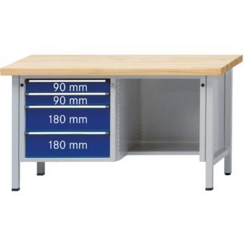 Werkbank Modell 334 V Sitzer Platte Buche Mas