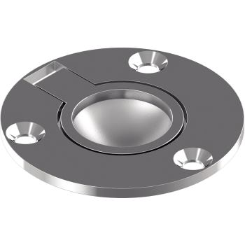 Bodenheber, rund, Feinguss poliert - Edelstahl A4 D= 50 mm