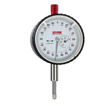 Feinmessuhr 0,001mm / 1mm / 58mm / doppelter Schaft / ISO 463 - Werksnorm 10268