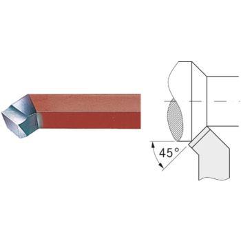 Drehmeißel außen HSSE 10x10 mm 45 Grad gebogen