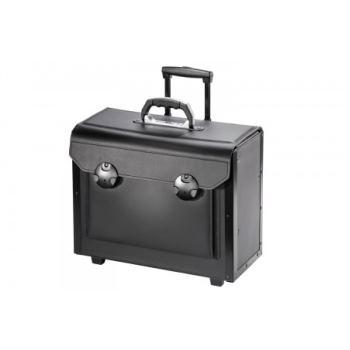 Rollenkoffer Werkzeugkoffer Rindleder 450x190x340mm
