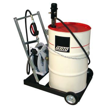 pneuMATO 3 fahrbar für 200 l Ölfässer mit Aufrolle
