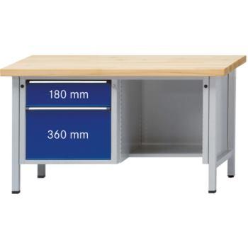 Werkbank Modell 409 V Sitzer Platte Buche Mas
