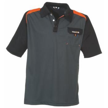 Polo-Shirt dunkelgrau/orange Gr. 4XL