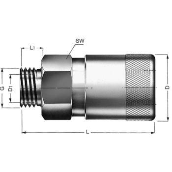 HERMETIKUS Kupplungen HSK 0 G 3/8 Inch aus Stahl