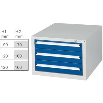Schubladenblock G 3 RAL 7035/5010