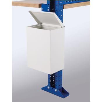 Abfallbehälter mit Verschlusskappe RAL 9002,