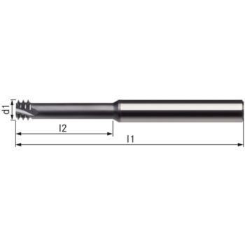 Vollhartmetall-Gewindefräser 3xd M6x1 L