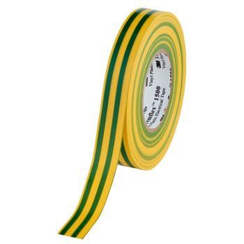 Temflex 1500 PVC -Elektroisolierband, grün/gelb B:19 mm x L:25 m