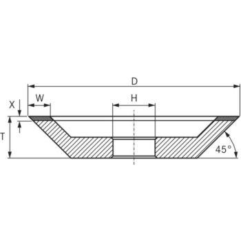 CBN-Topfscheibe, Typ 12V2 Durchmesser 100 mm